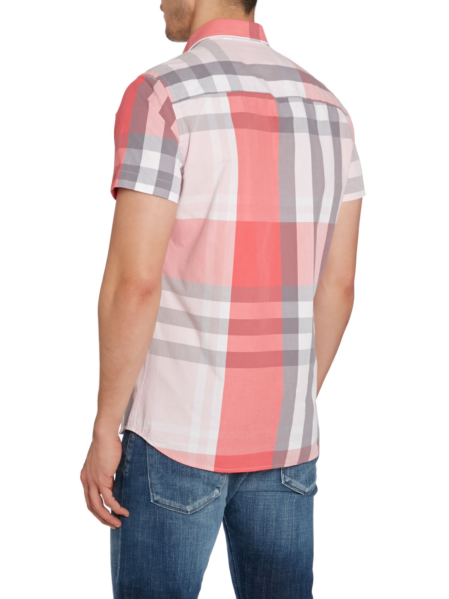 Duck And Cover Stripe Classic Fit Short Sleeve Button Down