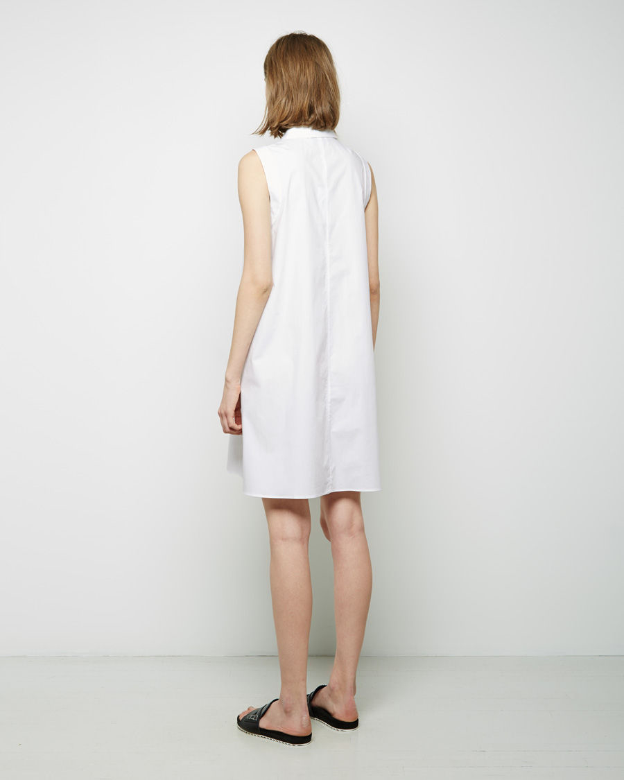 7a9621383b3375 Lyst - 3.1 Phillip Lim Sleeveless Trapeze Dress in White