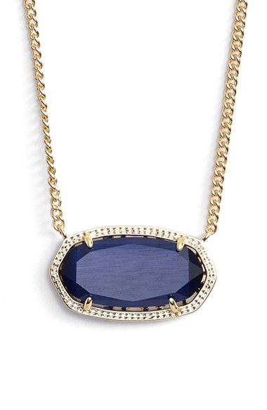 Lyst kendra scott dylan stone pendant necklace navy gold in blue gallery aloadofball Choice Image