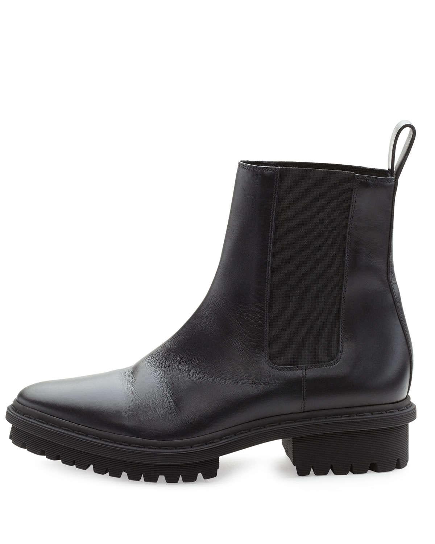 Lyst Balenciaga Leather Tread Sole Chelsea Boot In Black