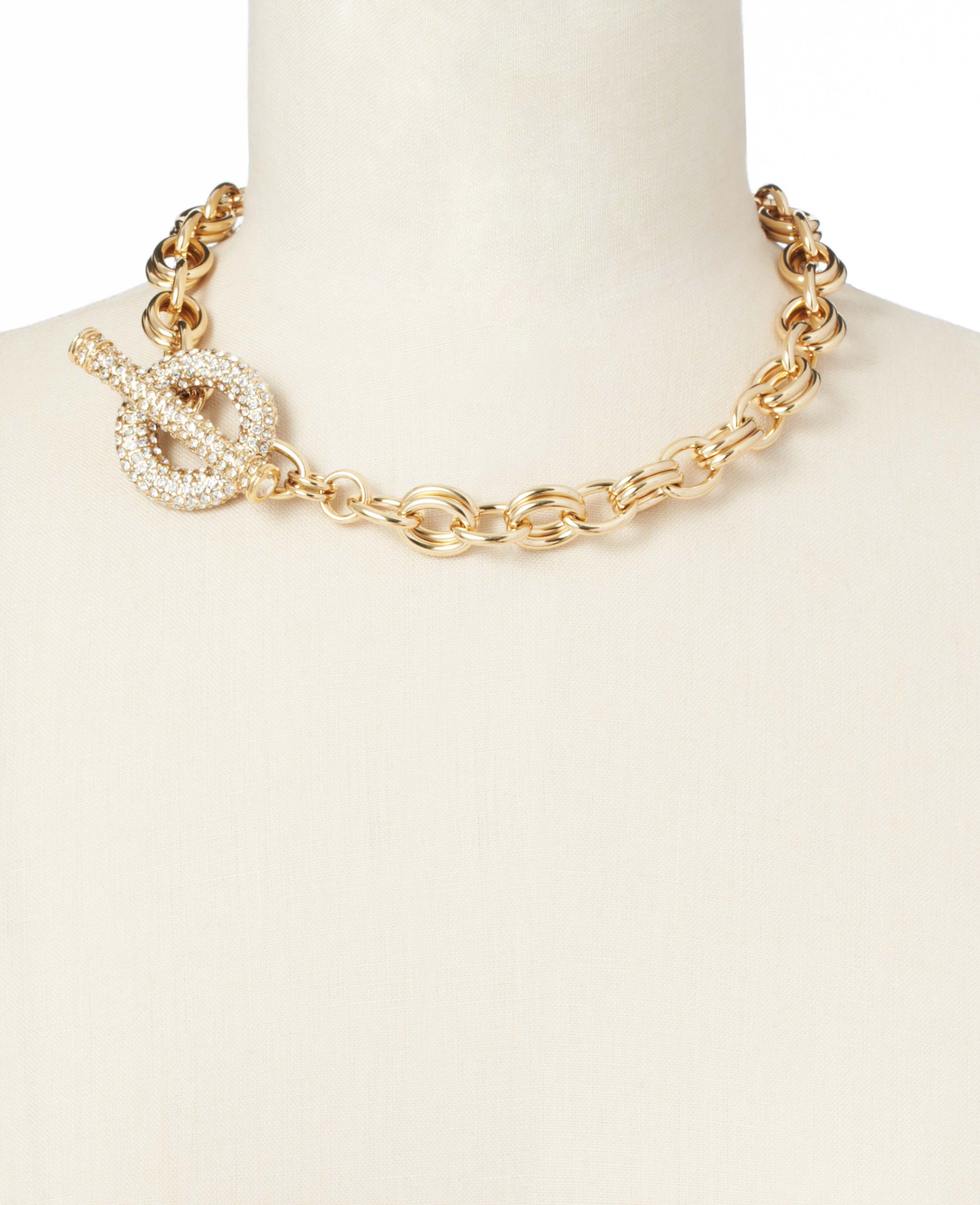 modern classic toggle necklace in gold lyst