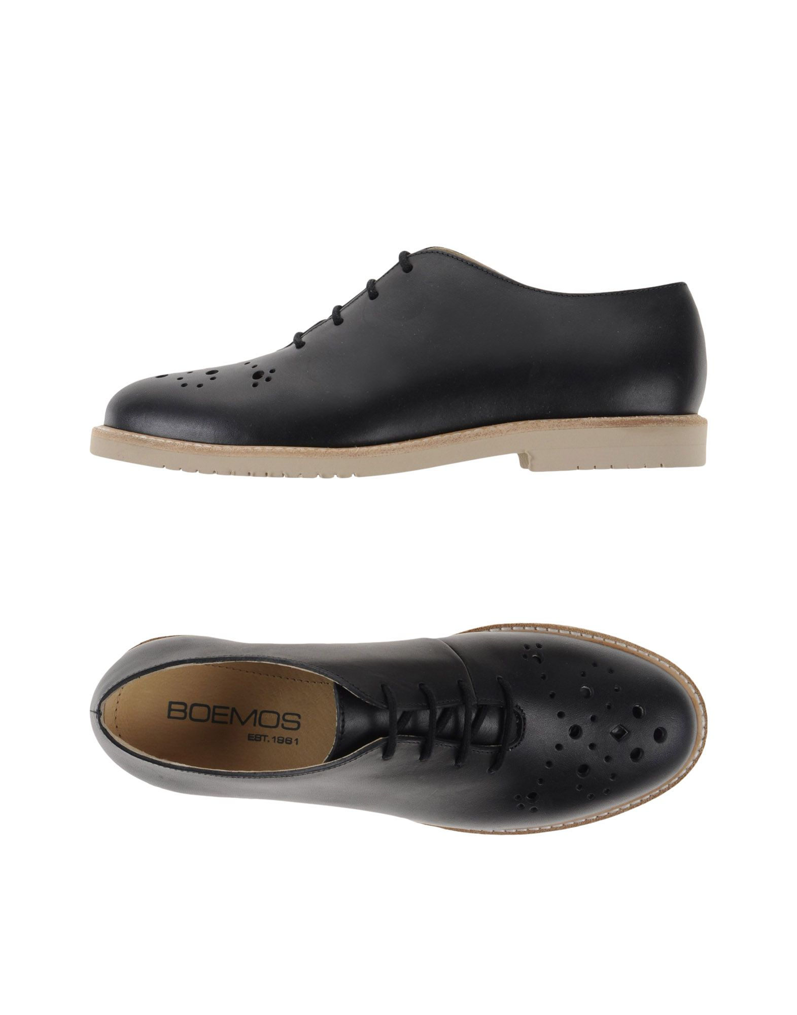 boemos lace up shoes in black for lyst