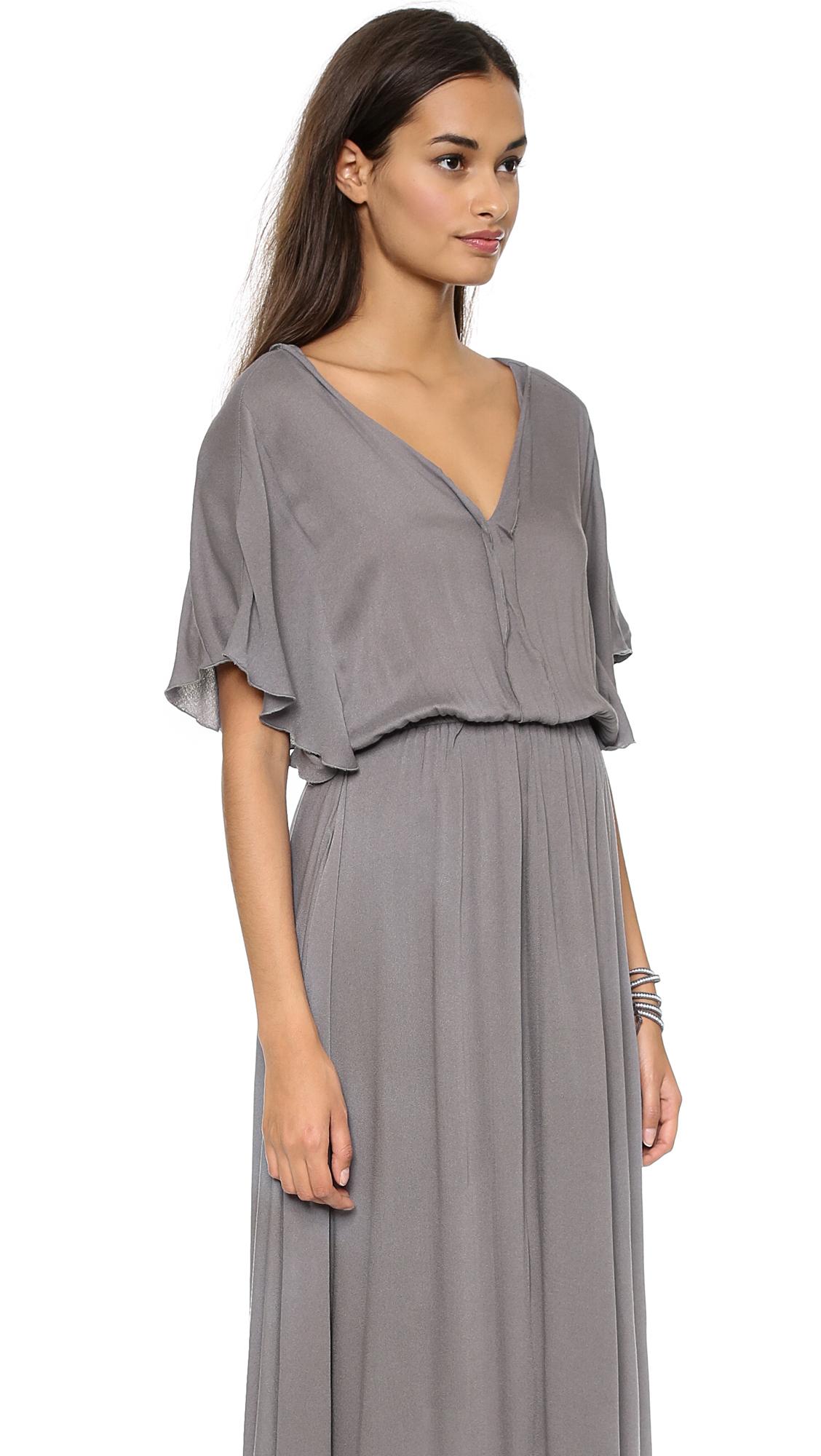 Ella moss Stella Maxi Dress in Gray - Lyst