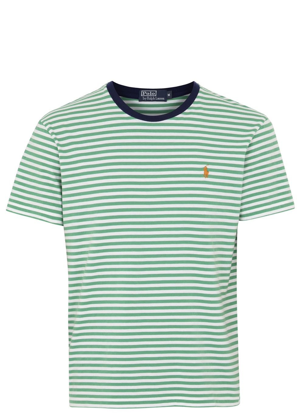 Polo Ralph Lauren Green Striped Cotton Tshirt in Green for ...