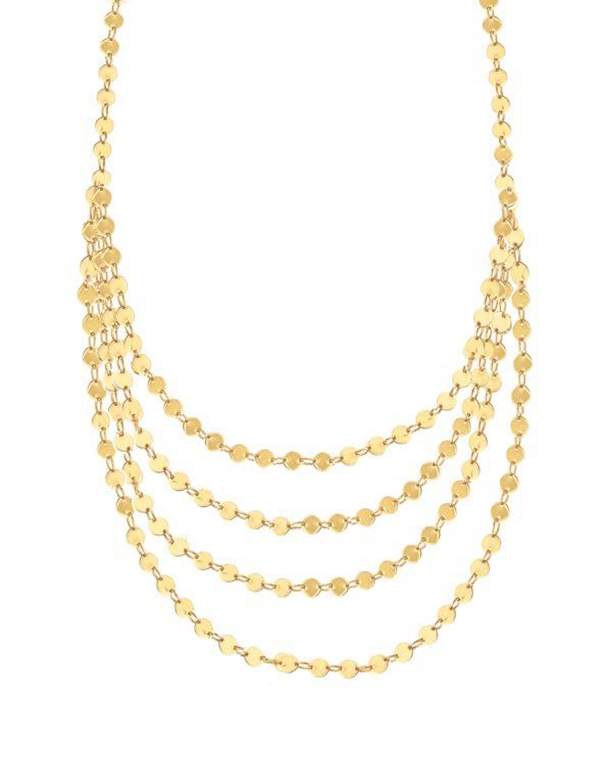 Lana Jewelry 14k Elite Mega Disc Triple Strand Necklace In