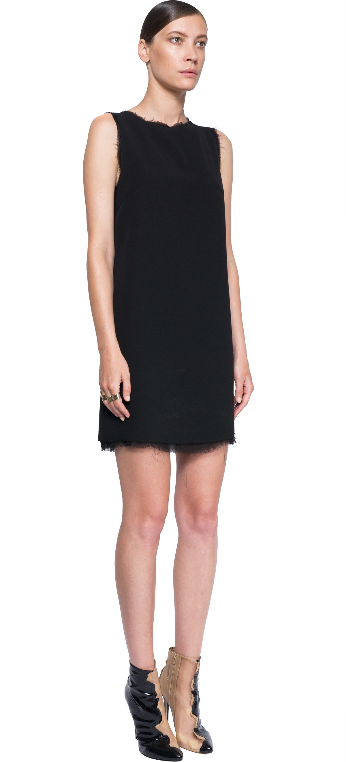 Maison margiela Rib-knit Tank Dress in Black