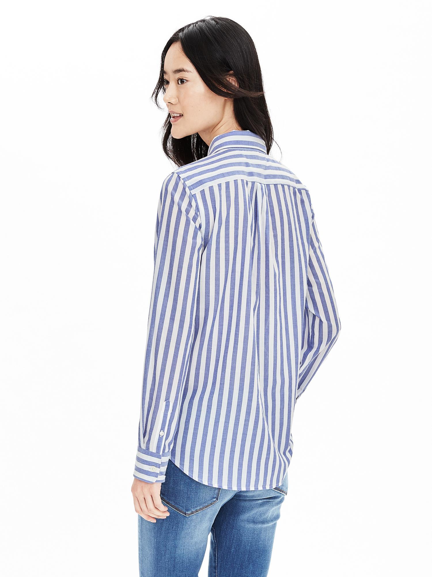 57bf20033984a Lyst - Banana Republic Dillon-fit Vertical Stripe Shirt