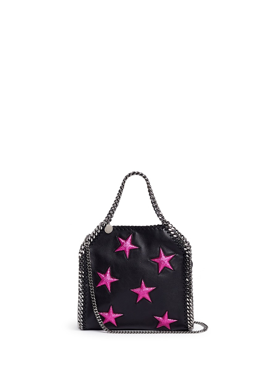 f96898eeae8c Stella McCartney  falabella  Mini Star Appliqué Two-way Chain Tote ...
