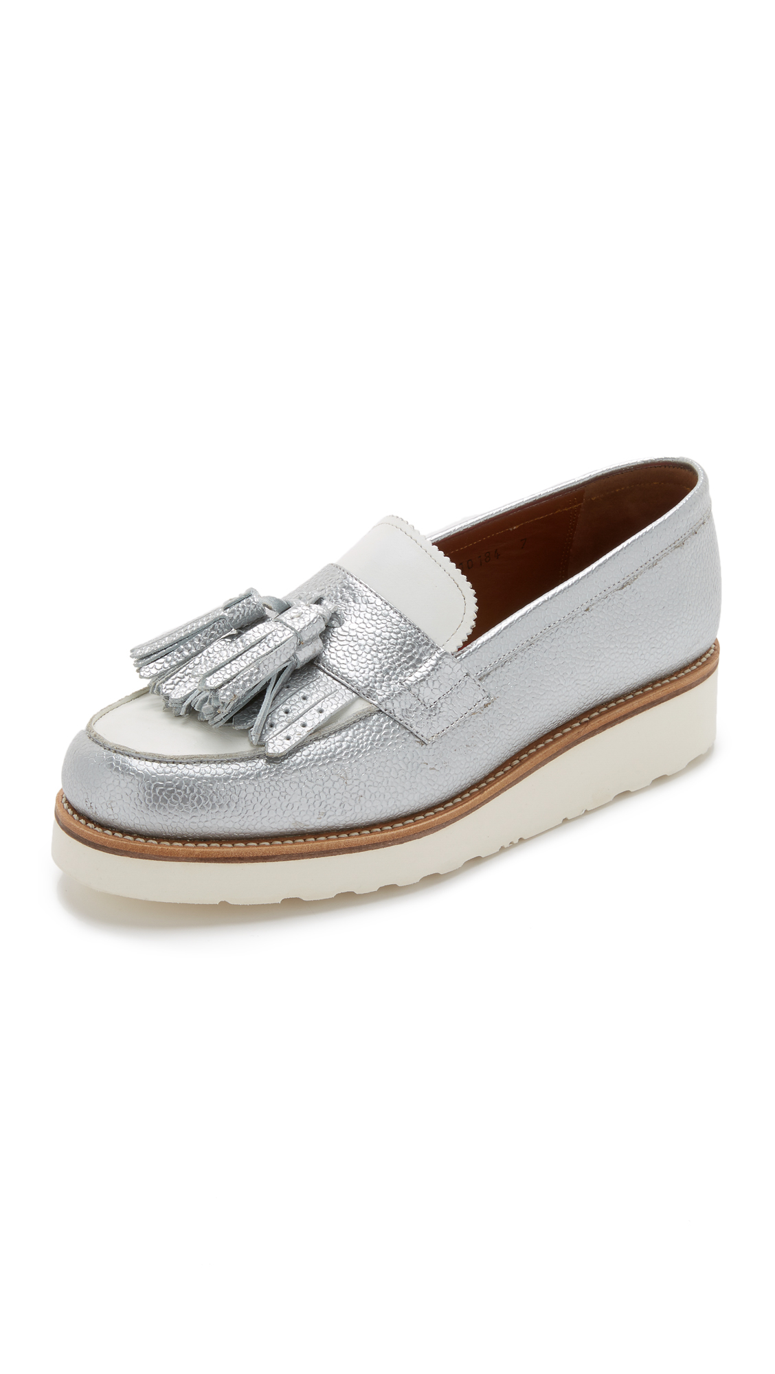 976a130b23c Foot The Coacher Clara Loafers in White - Lyst