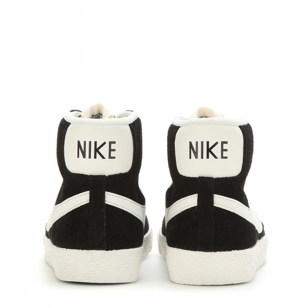 Lyst - Nike Blazer Mid Vintage Suede High-top Sneakers in Black 1706ff368