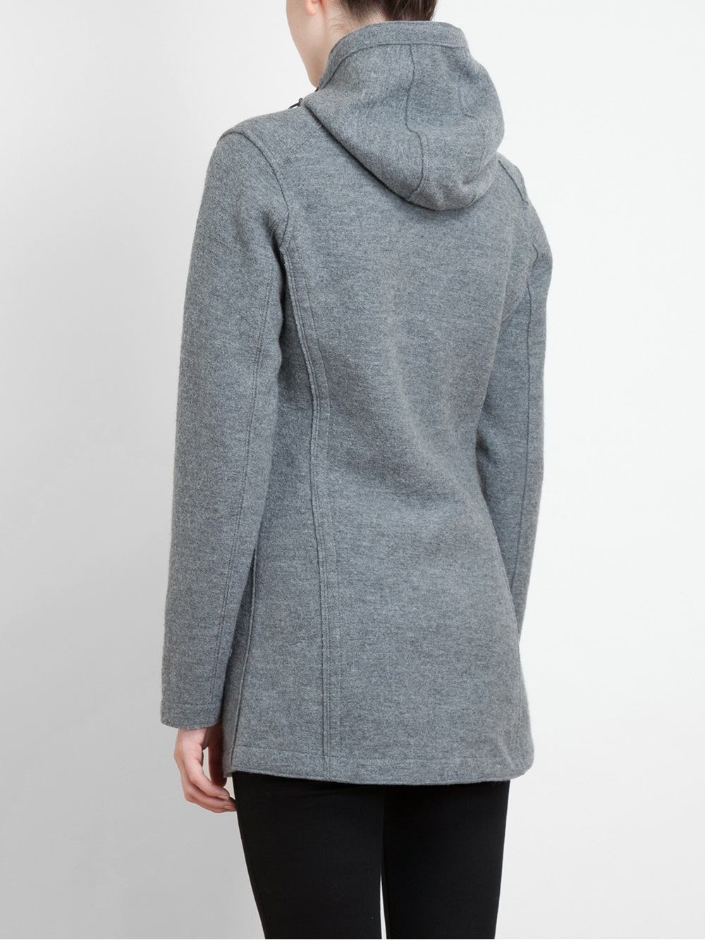 Frauenschuh Soraya Boiled Wool Parka Coat in Gray | Lyst