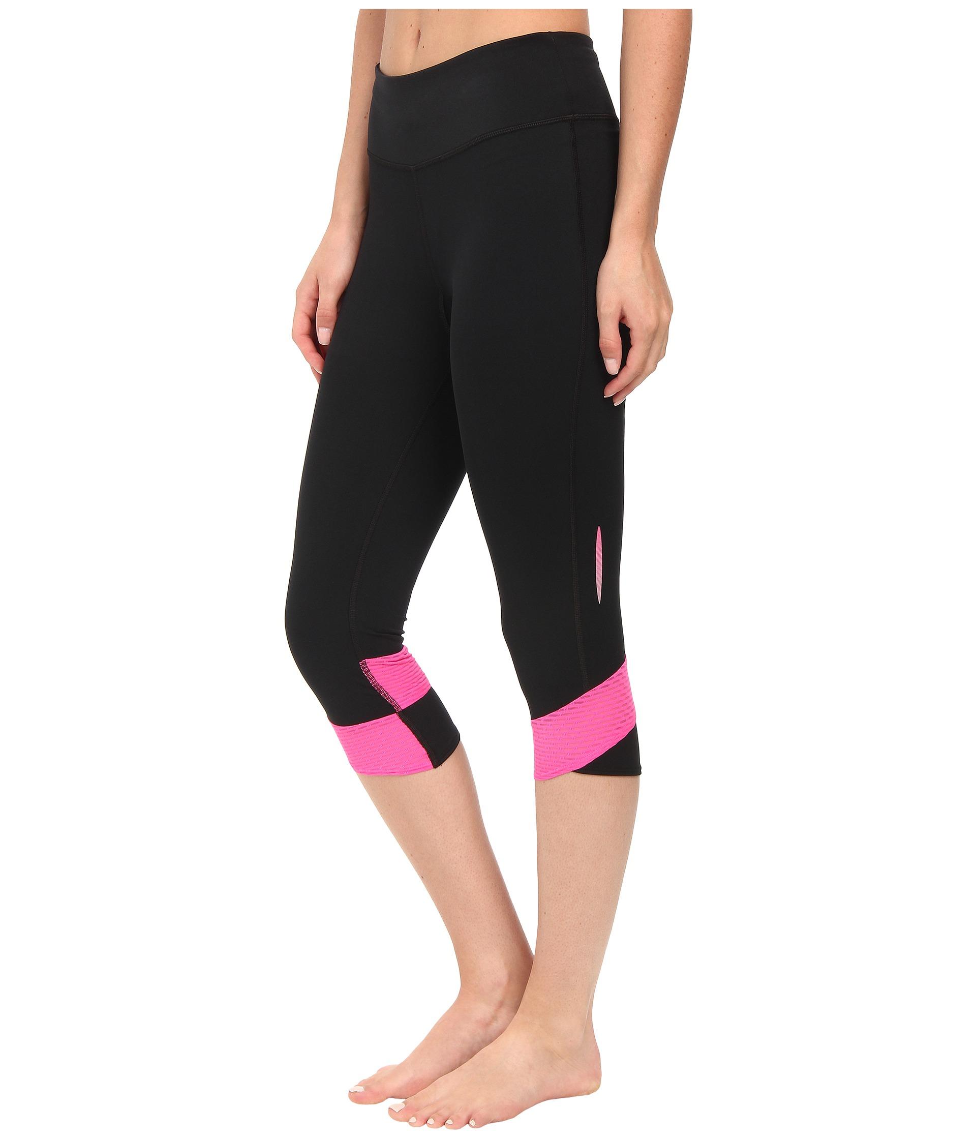 Womens Under Armour Compression Capri Leggings NEW Medium Blue /& Black Pants