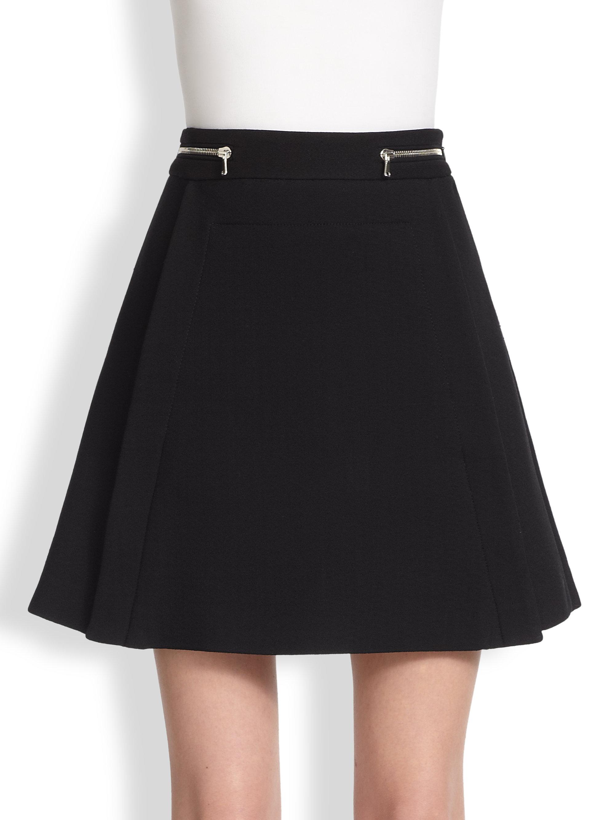 proenza schouler zip accented a line mini skirt in black