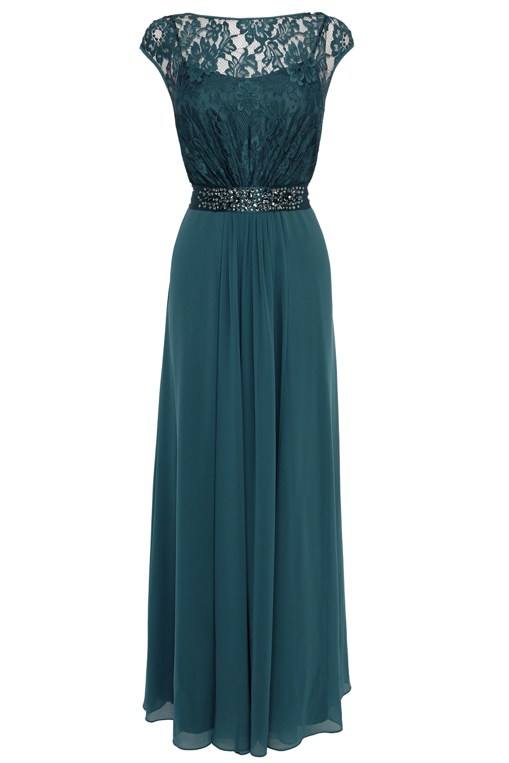 Green lori lee maxi dress