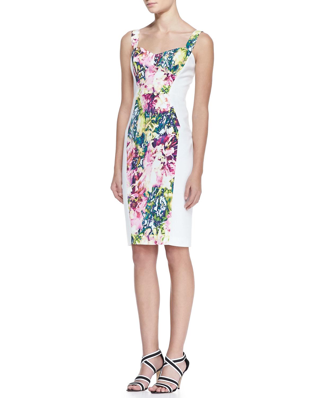 f0838e4501888 Black Halo Sadie Floral Print Sheath Dress - Lyst
