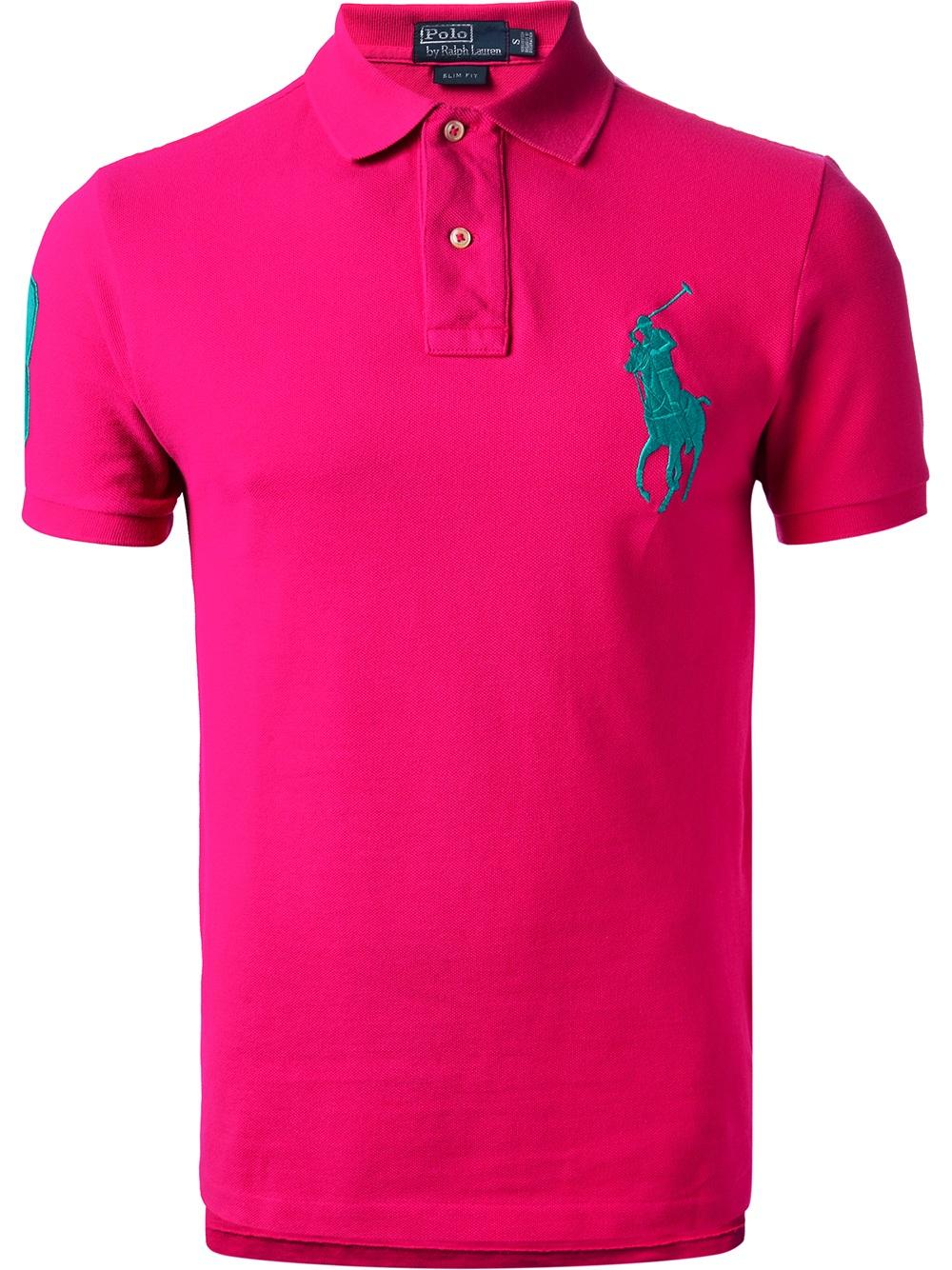 Ralph Custom garcon Lauren Pink Fit Polo Shirts T n0kwPO