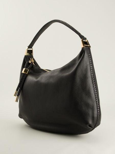 New Zealand Michael Kors Skorpios Shoulder - Bags Michael Kors Skorpios Hobo Shoulder Bag Black