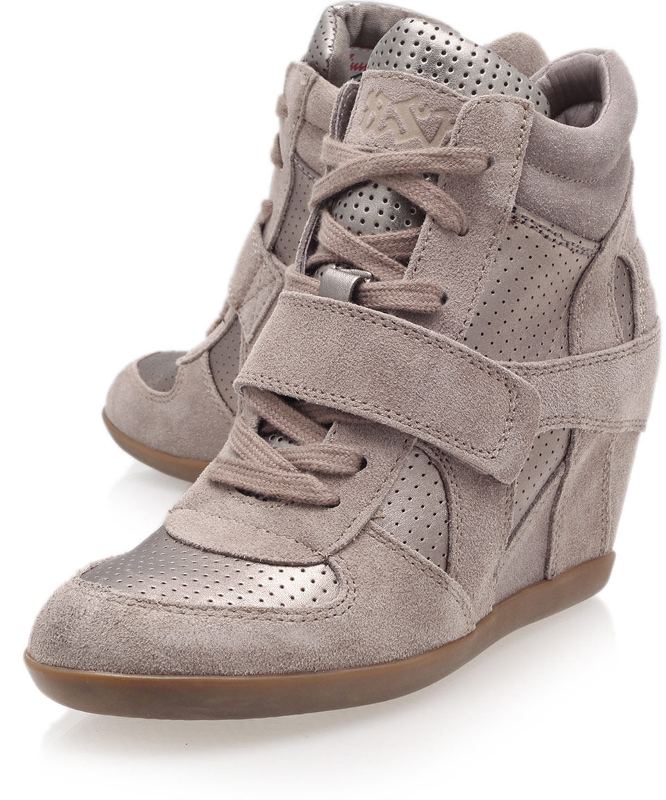 d4e5d926b652 Lyst - Ash Stone Bowie Suede And Metallic High-Top Wedge Trainers in ...