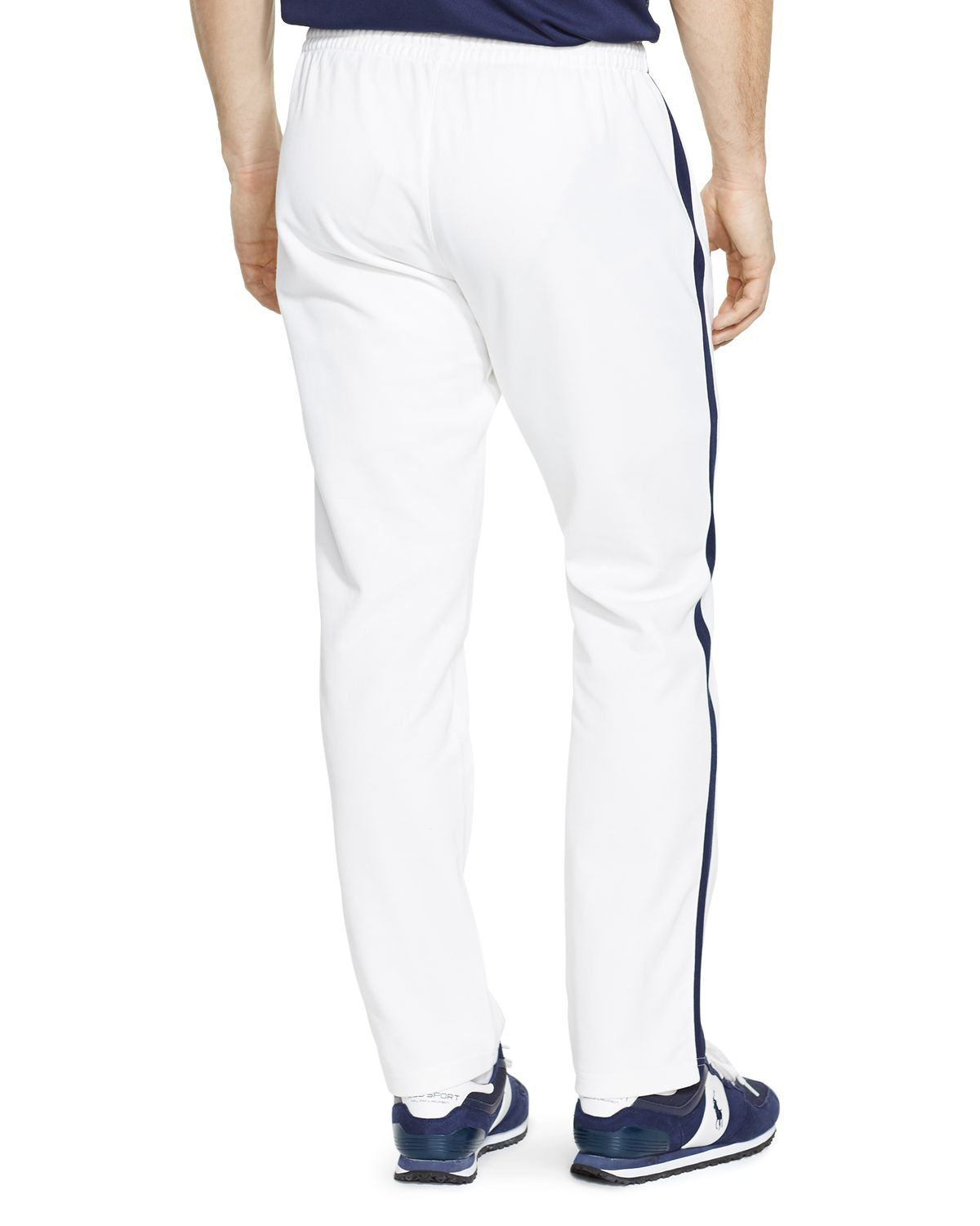 special selection of how to get colours and striking Polo Ralph Lauren Cotton-blend Piqué Track Pant in White for ...