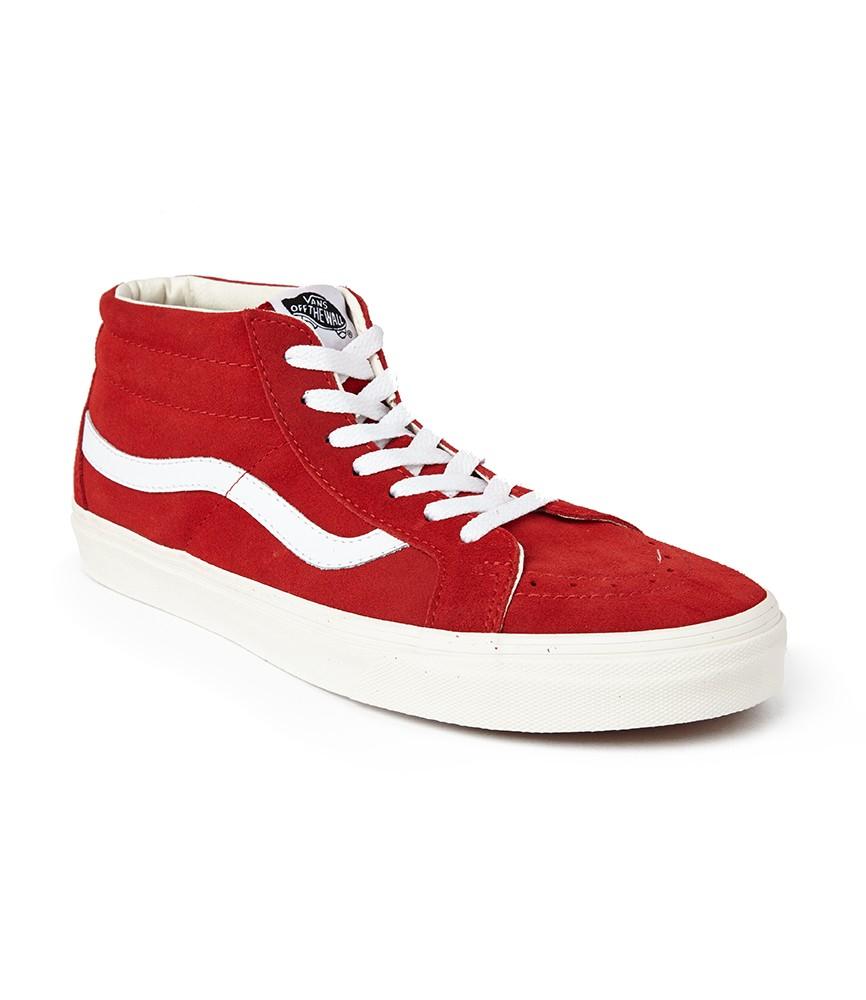vans sk8 hi high top sneakers in red for men lyst. Black Bedroom Furniture Sets. Home Design Ideas