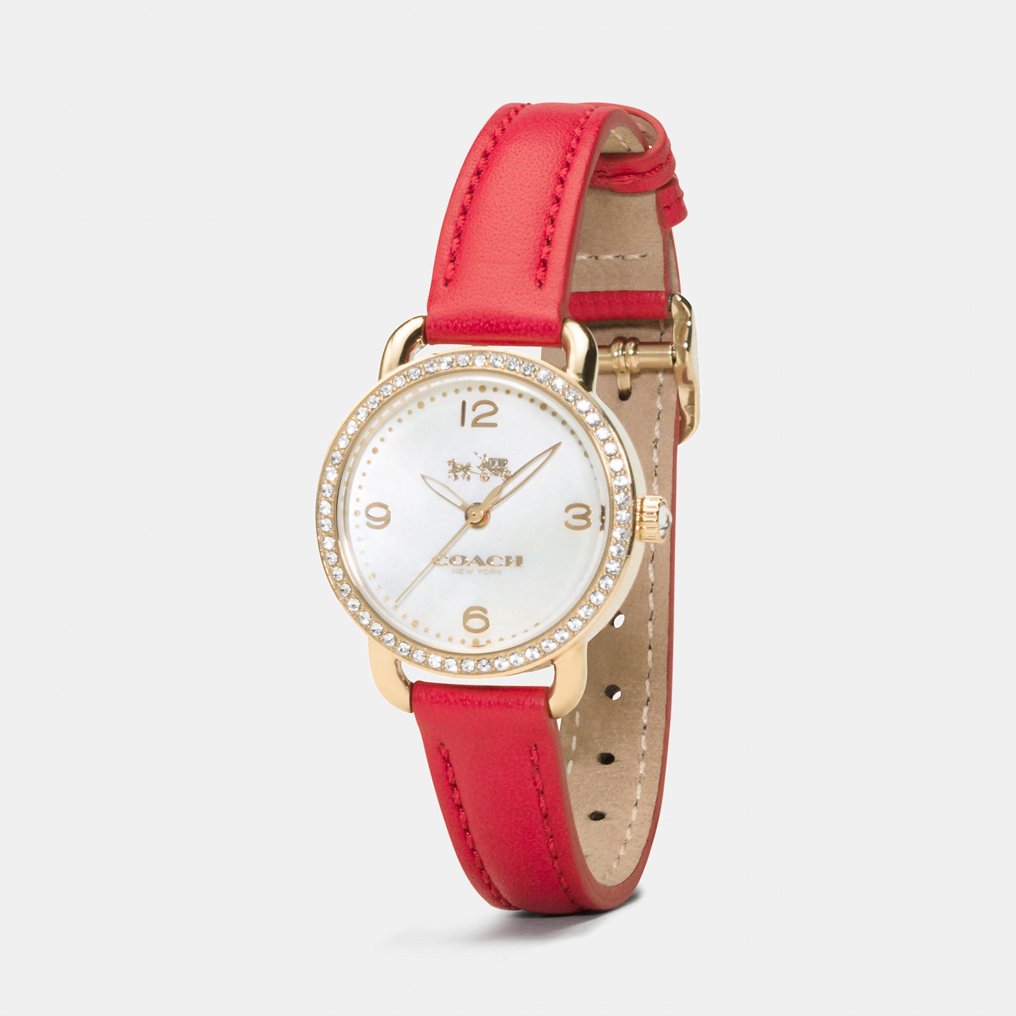 with braun strap leather right red chronograph watch side watches prestige gents