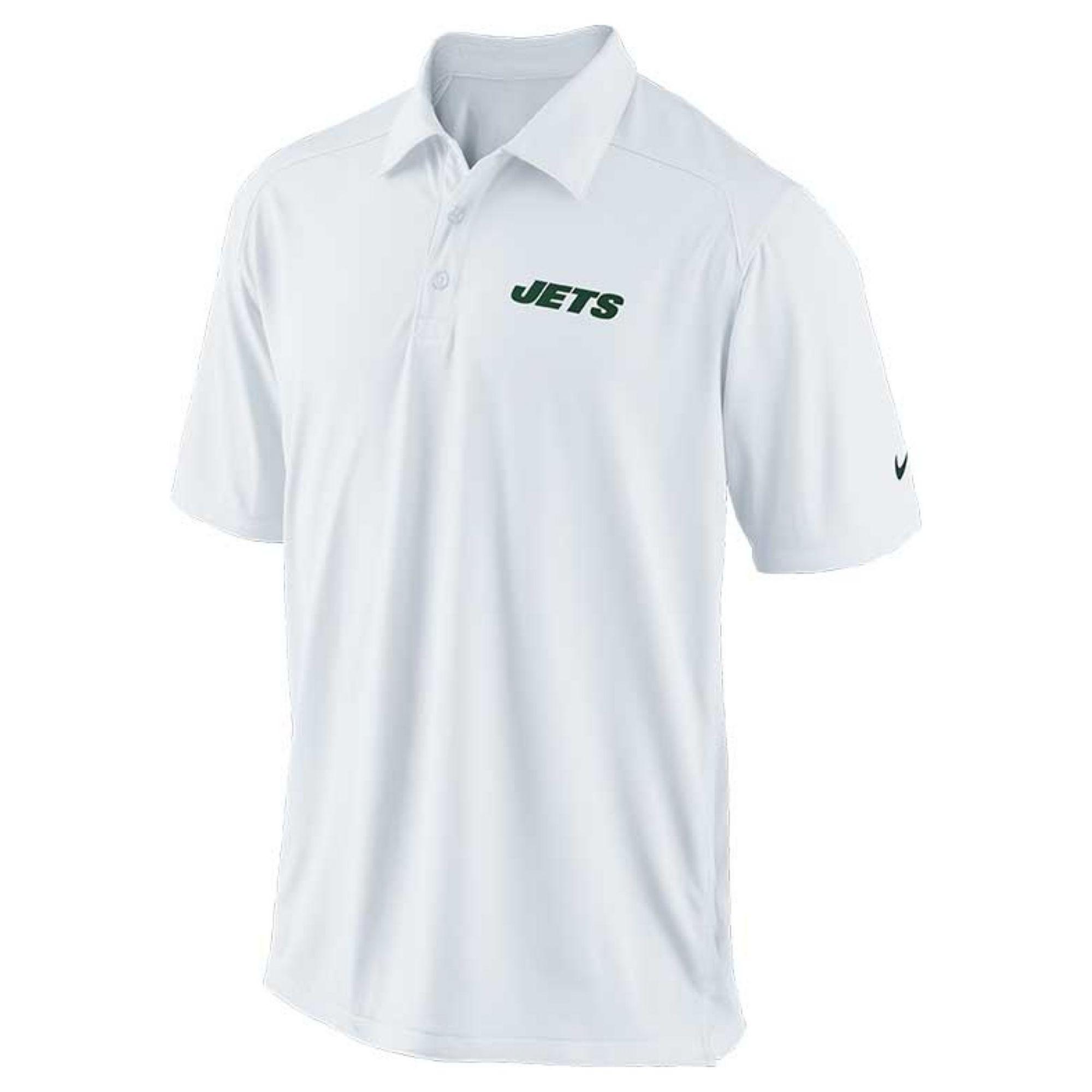 Nike men 39 s new york jets football coach polo shirt in for Soccer coach polo shirt
