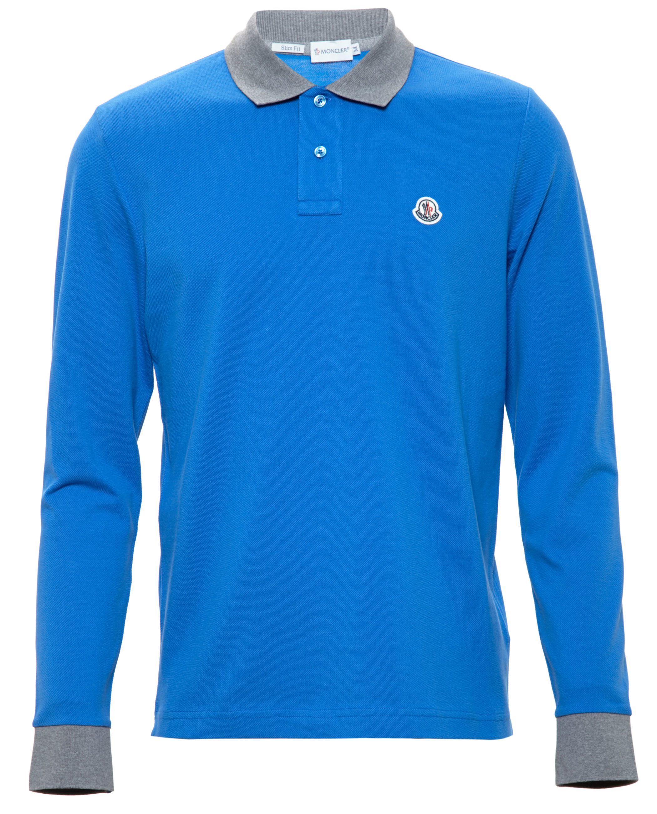 light blue moncler polo