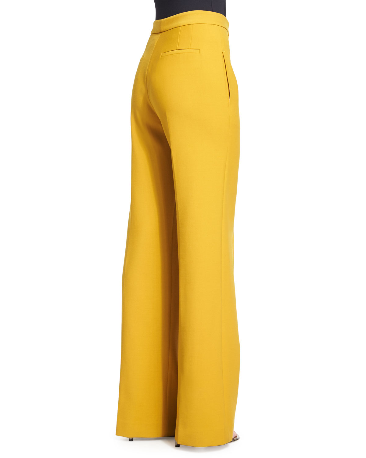 Adam lippes High-waist Wide-leg Pants in Yellow | Lyst