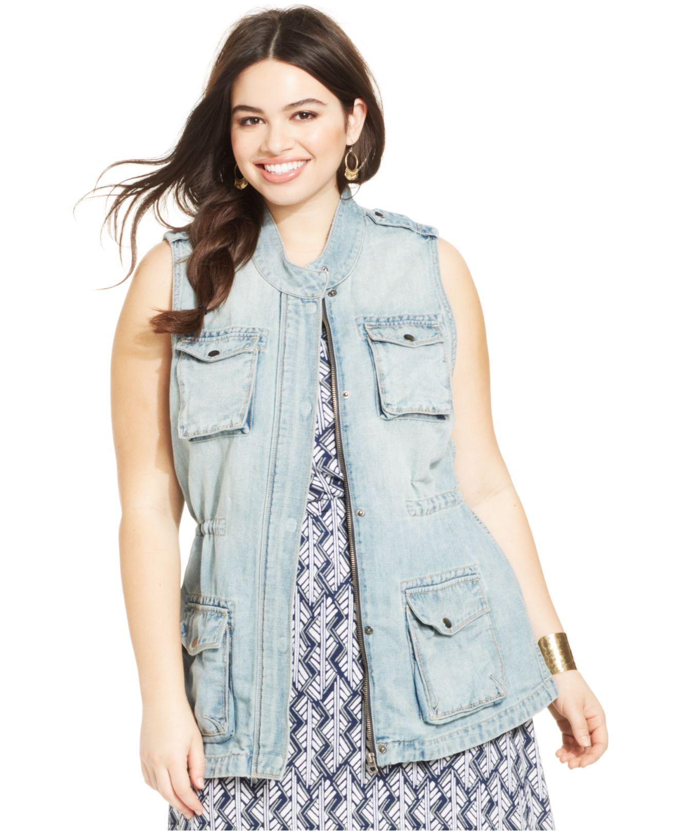 Plus Size Jean Vest - Xtellar Jeans