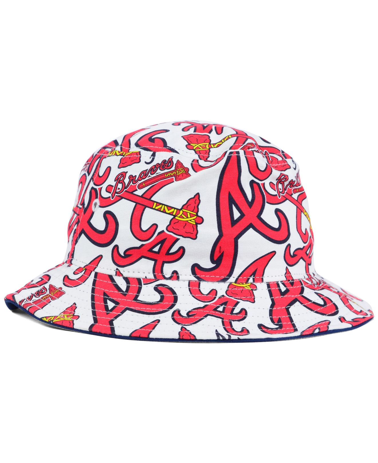 Lyst - 47 Brand Atlanta Braves Bravado Bucket Hat in Red for Men de6c1cc1c82c