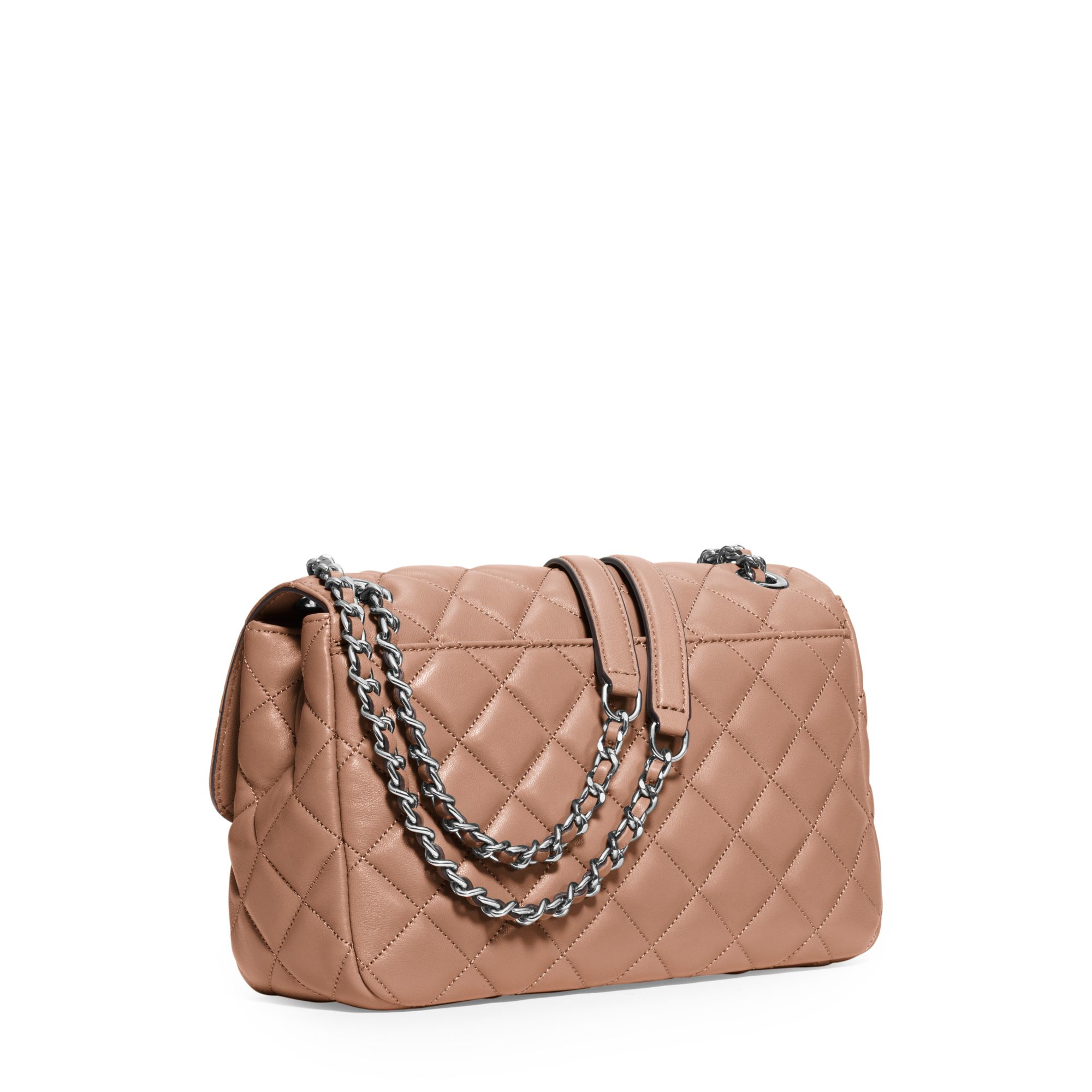 0ef5bea5f901 Michael Kors Sloan Large Quilted-leather Shoulder Bag in Pink - Lyst