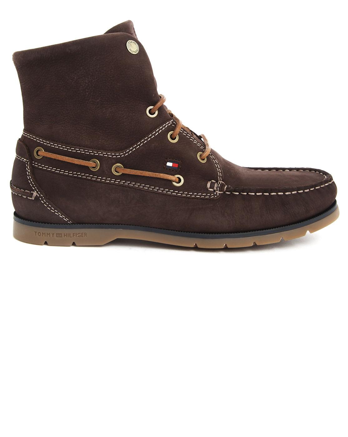 tommy hilfiger adjustable top brown nubuck shoes in brown. Black Bedroom Furniture Sets. Home Design Ideas