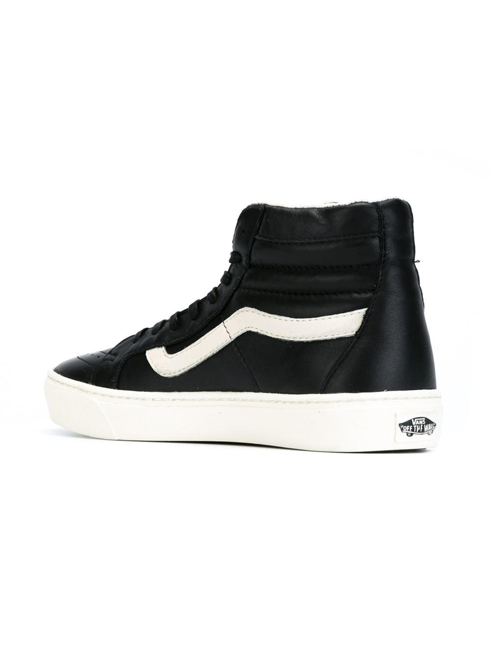 d86748e405 Lyst - Vans Leather Hi-top Sneakers in Black for Men