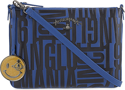 0046e6f563d Vivienne Westwood Anglomania Turner Text-embossed Cross Body Bag in ...