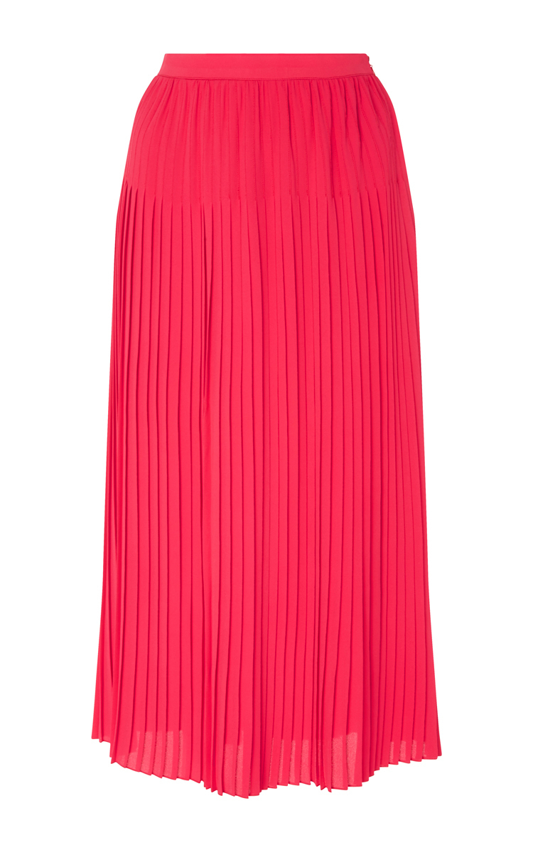 cacharel pink silk blend pleated skirt in pink lyst