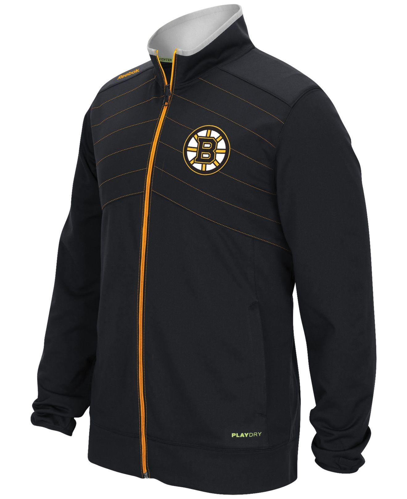 0895fcfecfda3 Reebok Men's Boston Bruins Center Ice Warm Up Jacket in Black for ...