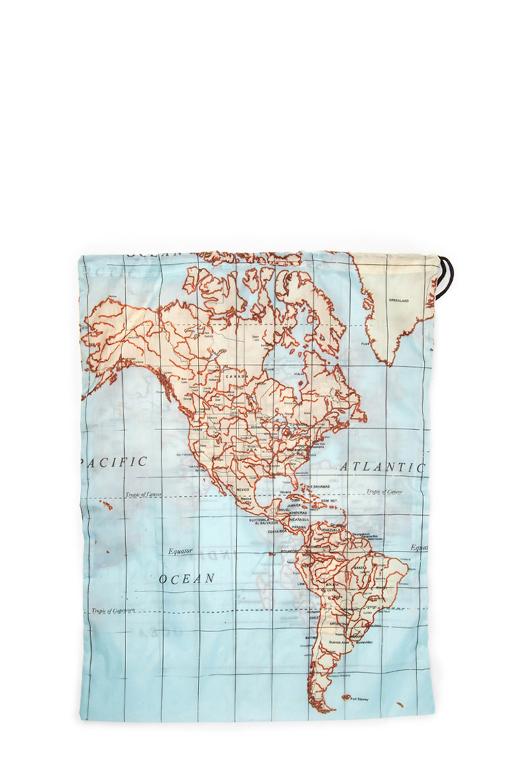 Lyst forever 21 kikkerland world map laundry bag in blue for men gallery gumiabroncs Choice Image