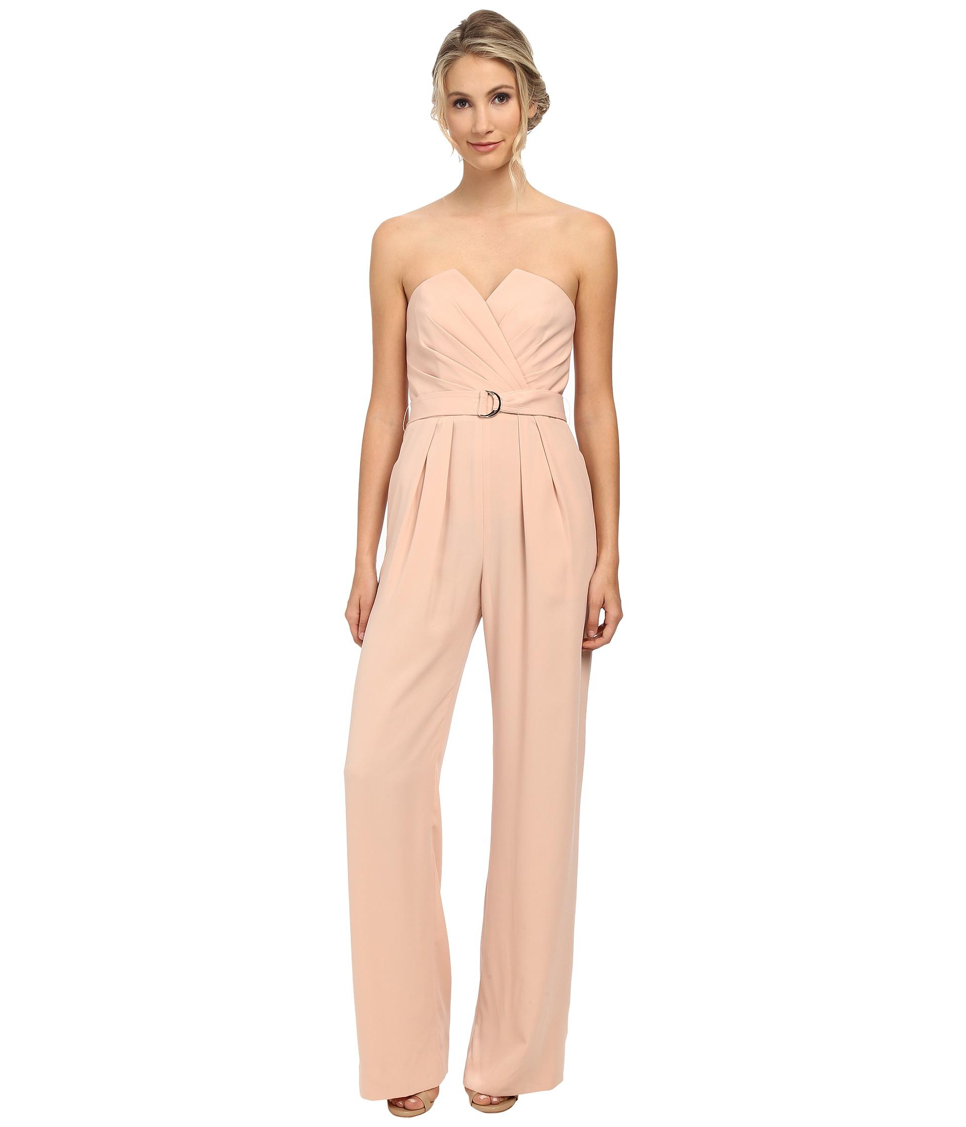 3c50dbd5f5b Lyst - JILL Jill Stuart Belted Sweetheart Neck Jumpsuit in Pink