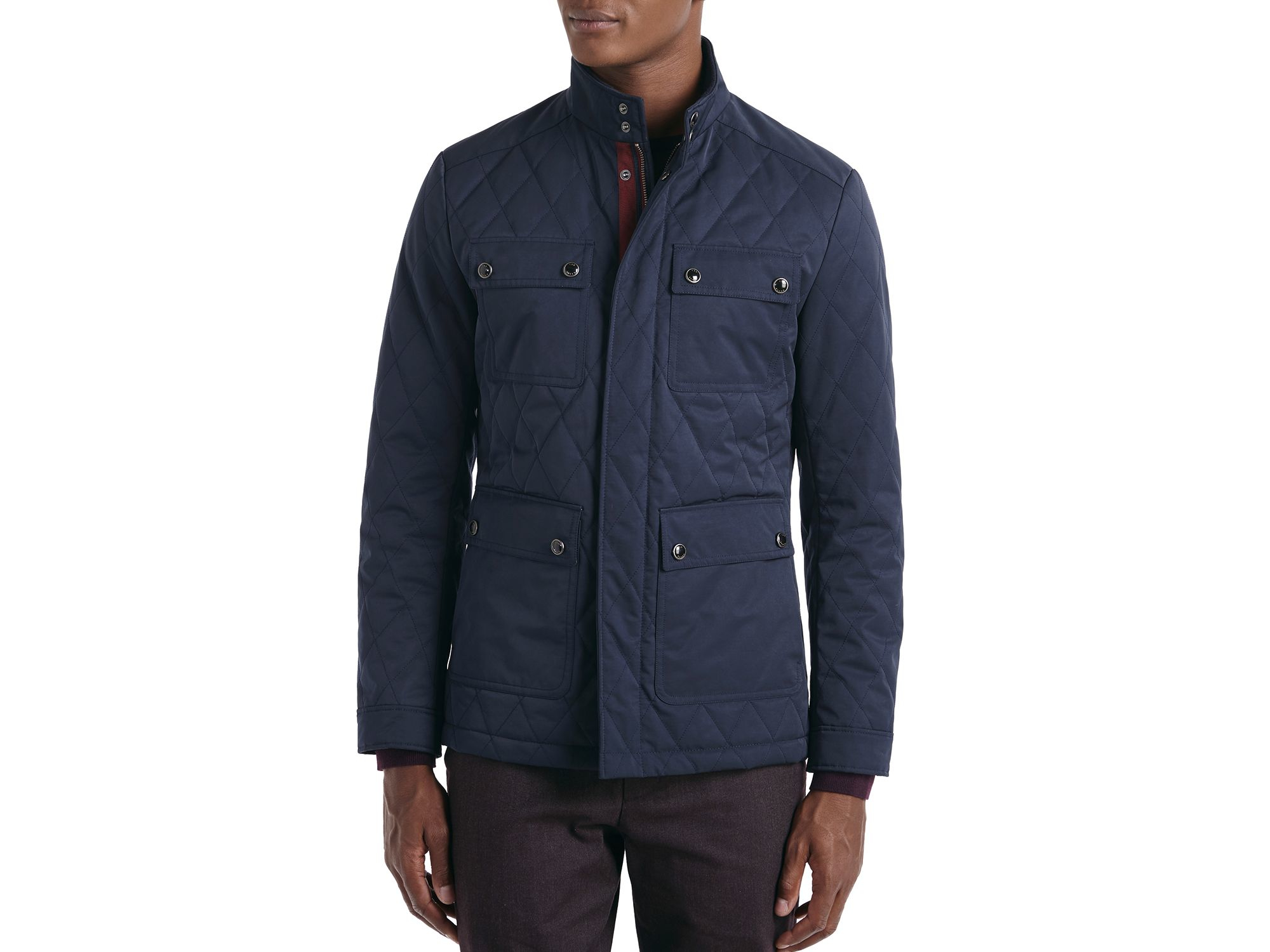 Lyst Ted Baker Dreavyn Four Pocket Quilted Jacket In