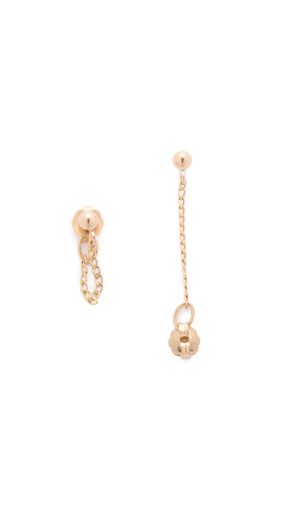 Lyst - Phyllis + Rosie Mini Chain Hoop Earrings - Gold in Metallic
