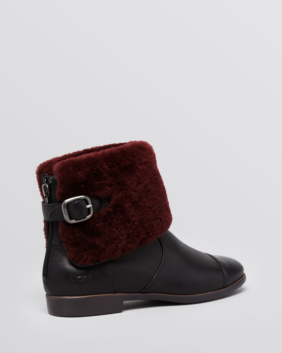 ugg inez ankle cuff boots in black lyst