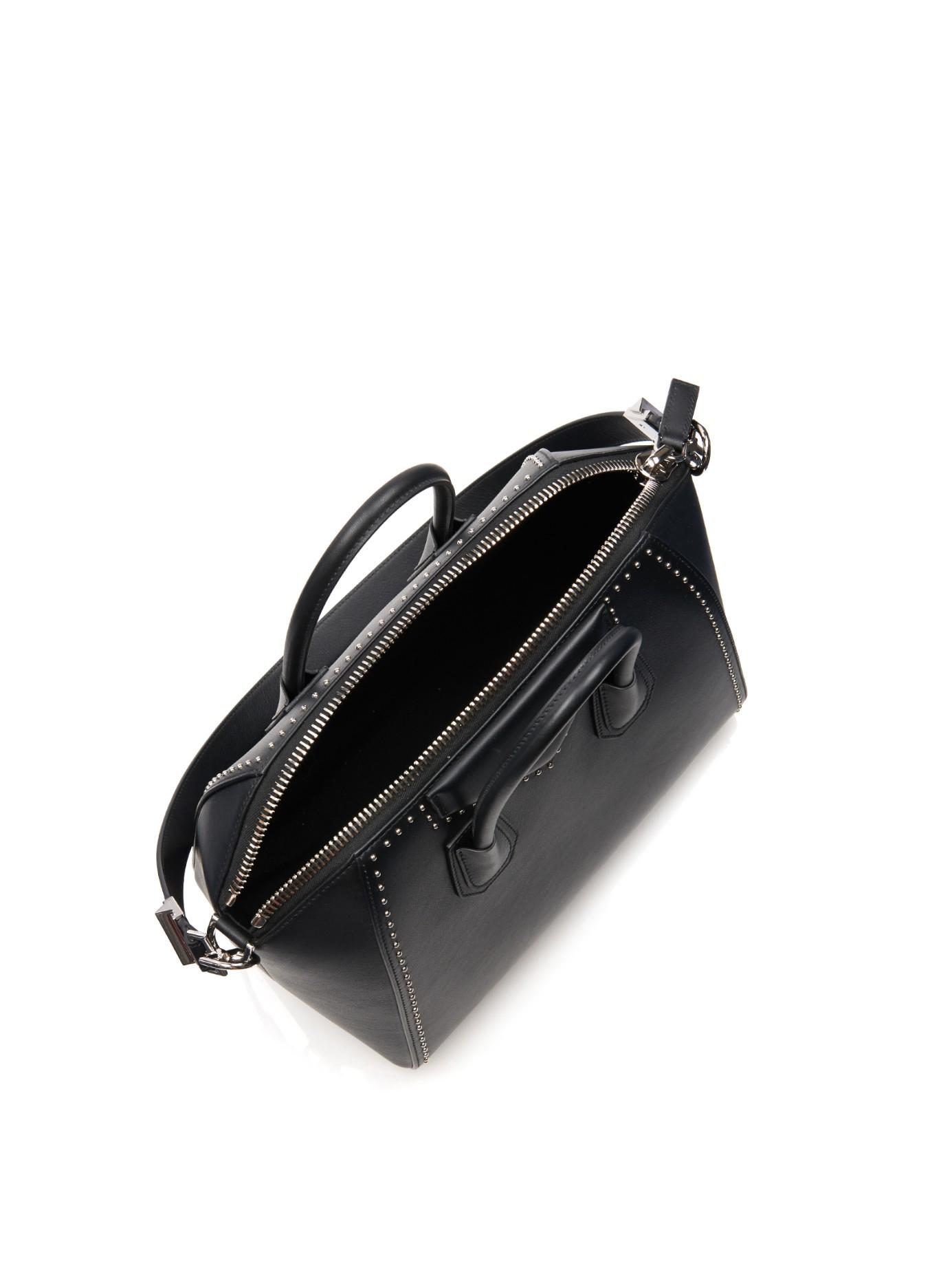 Lyst - Givenchy Antigona Medium Studded Leather Tote in Black 3e12b9ae83186