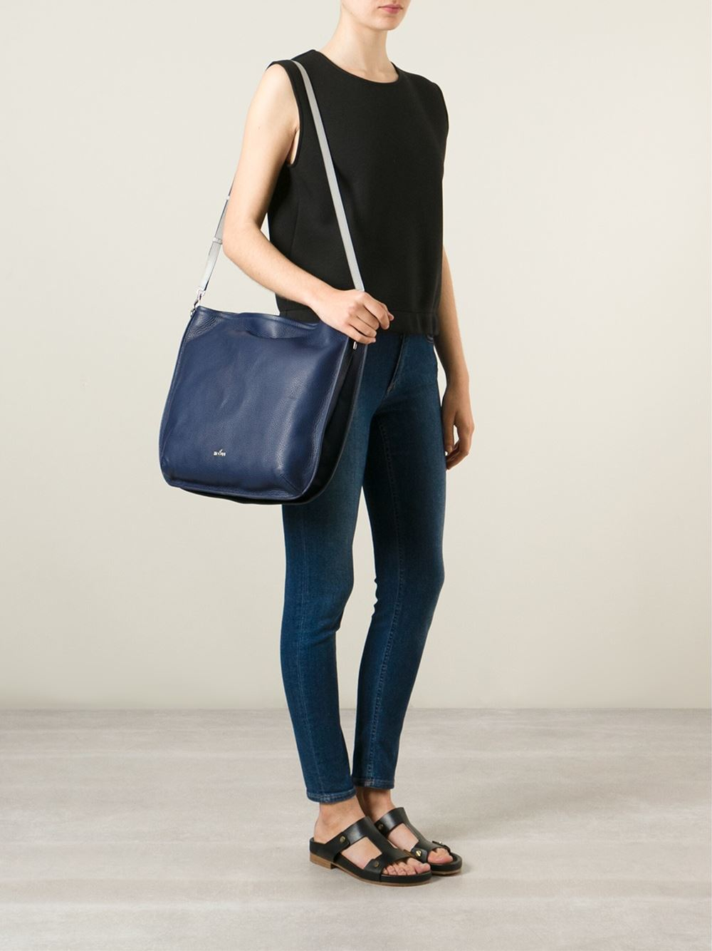 Hogan Leather Hobo Bag in Blue | Lyst