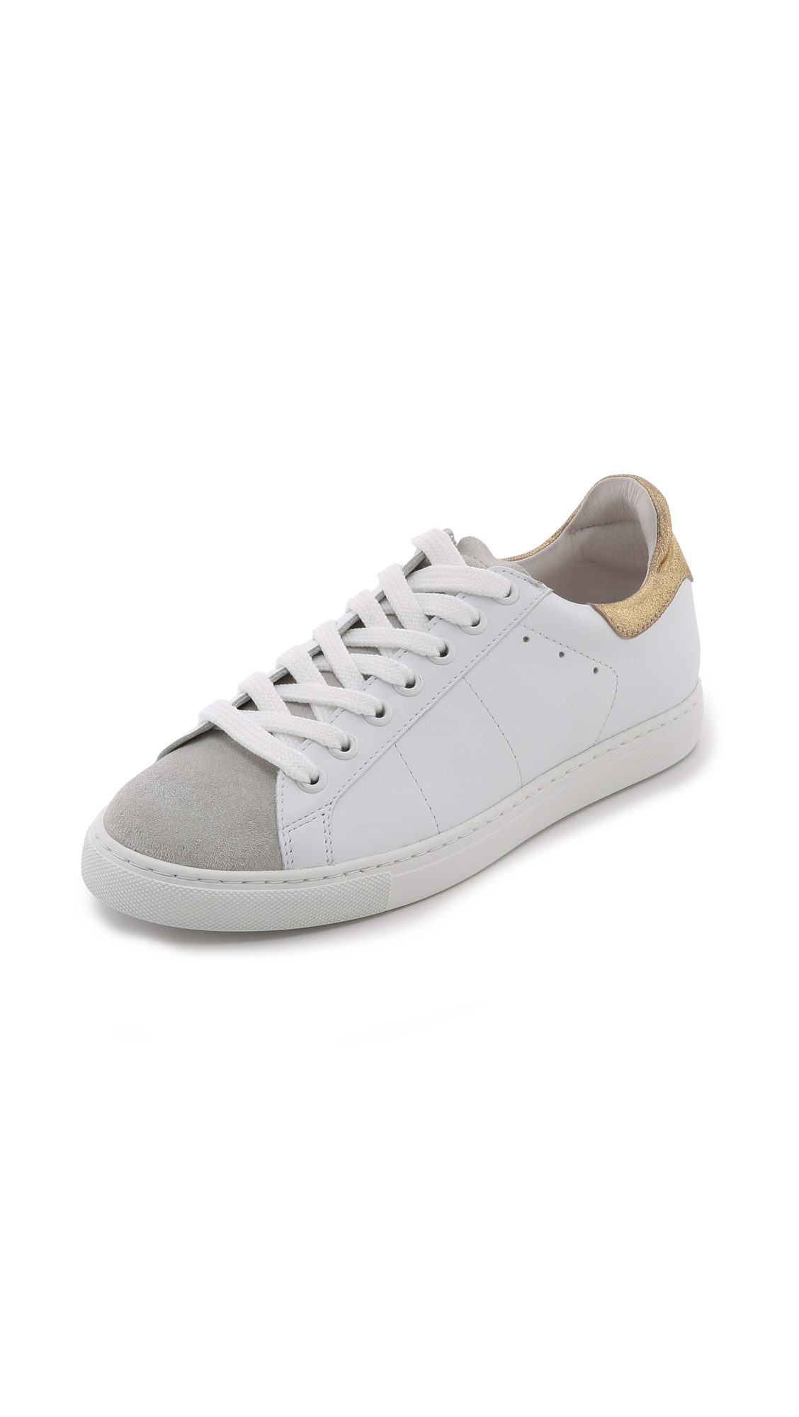 Iro Woman Textured-leather Sneakers White Size 40 Iro b8ZWBsw