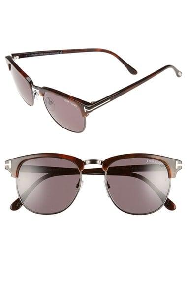 tom ford 39 henry 39 53mm polarized sunglasses dark havana. Black Bedroom Furniture Sets. Home Design Ideas
