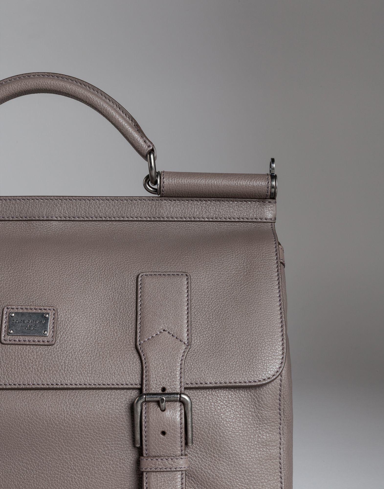 6ba2bb81c9 Lyst - Dolce   Gabbana Sicily Travel Bag In Leather in Gray for Men