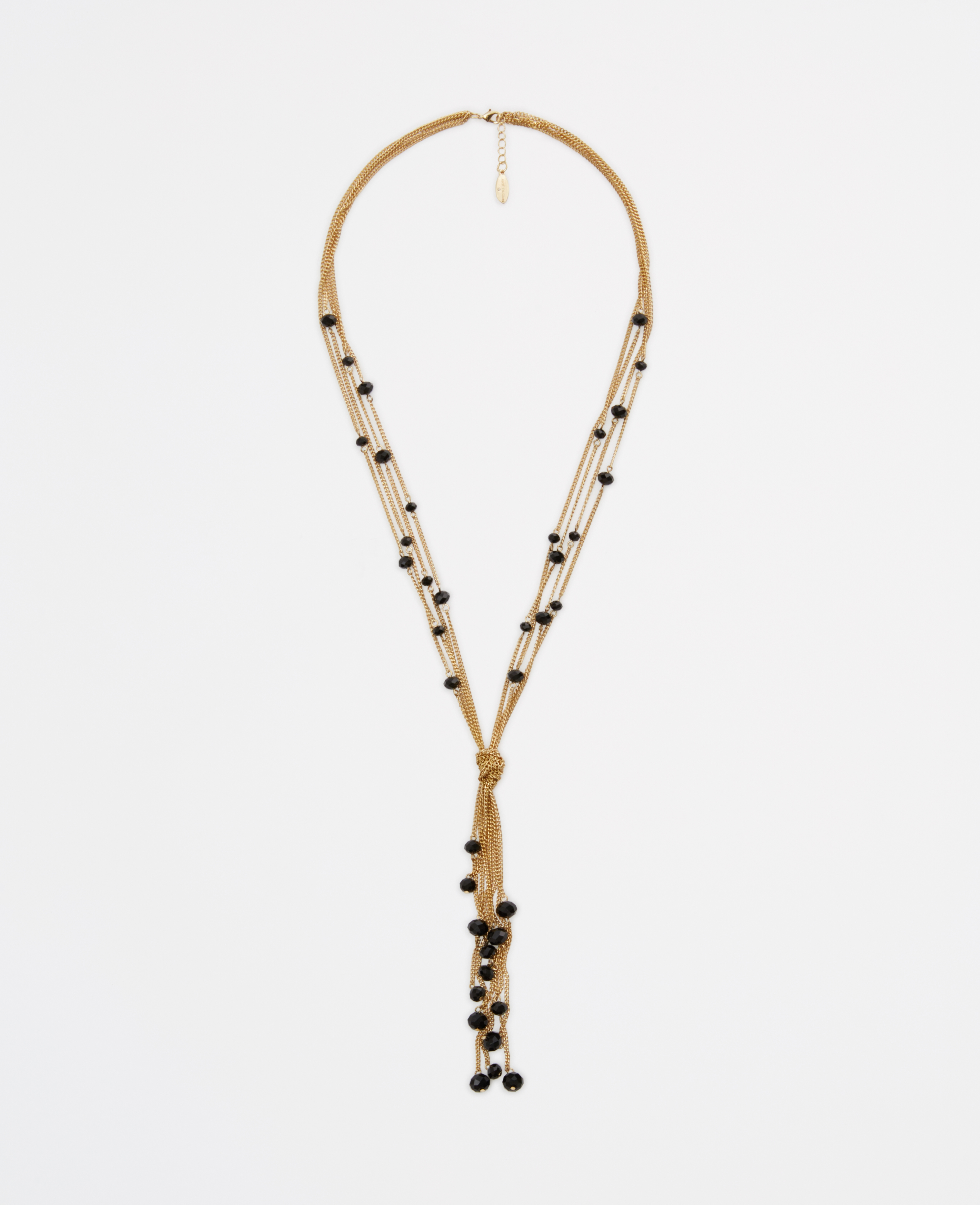 lyst ann taylor beaded tassel pendant necklace in metallic. Black Bedroom Furniture Sets. Home Design Ideas