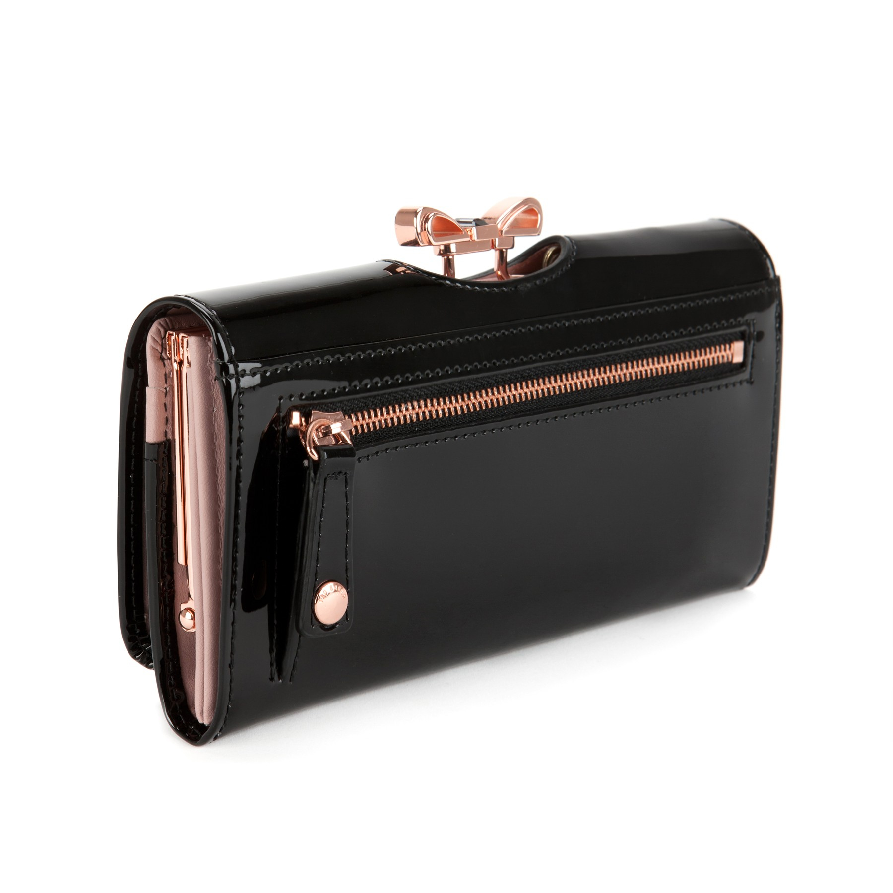 d1f45b4f06bd83 Ted Baker Emmy Small Leather Crystal Bow Purse - Best Purse Image ...
