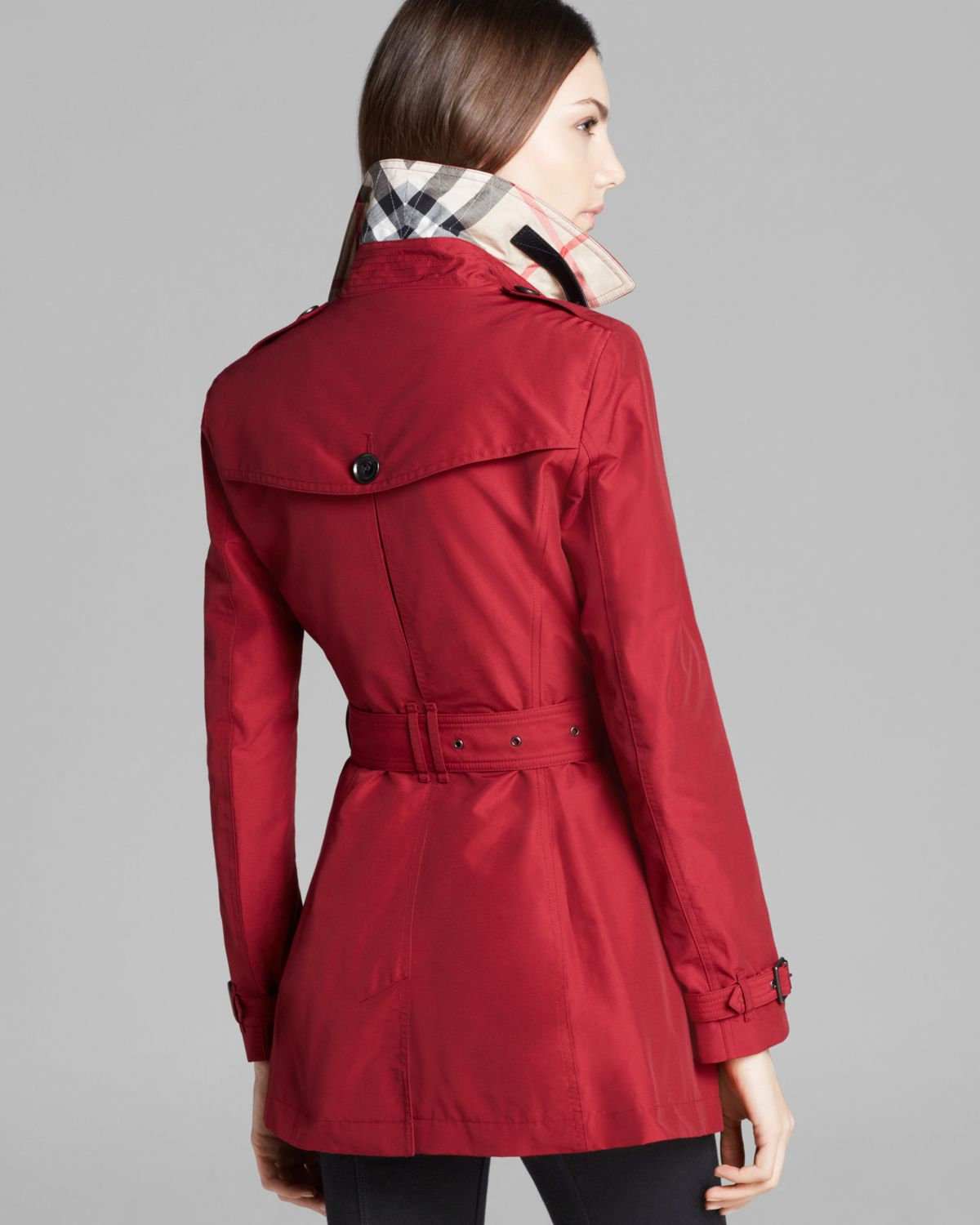 Lyst Burberry Brit Brookesby Coat In Red