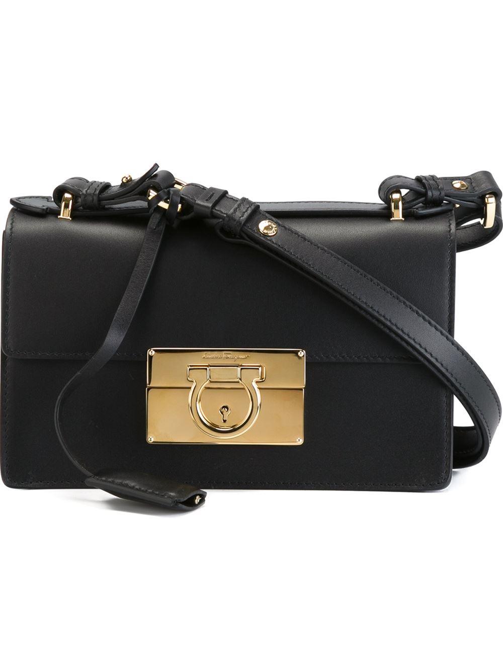 Lyst - Ferragamo  aileen  Shoulder Bag in Black de3d18869b092